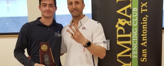 San Antonio native representing University of the Incarnate Word brought home a 3rd place trophy from the 2019 NCAA Fencing Championships.