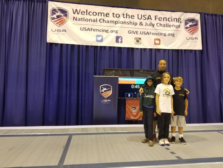 2018, June 28 - July 7, Fencing Nationals - St Louis, MO